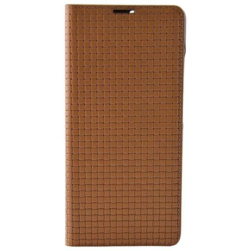 Etui cuir Mike Galeli ENZO Series Samsung Galaxy S21 Plus 5G Marron (Almond)