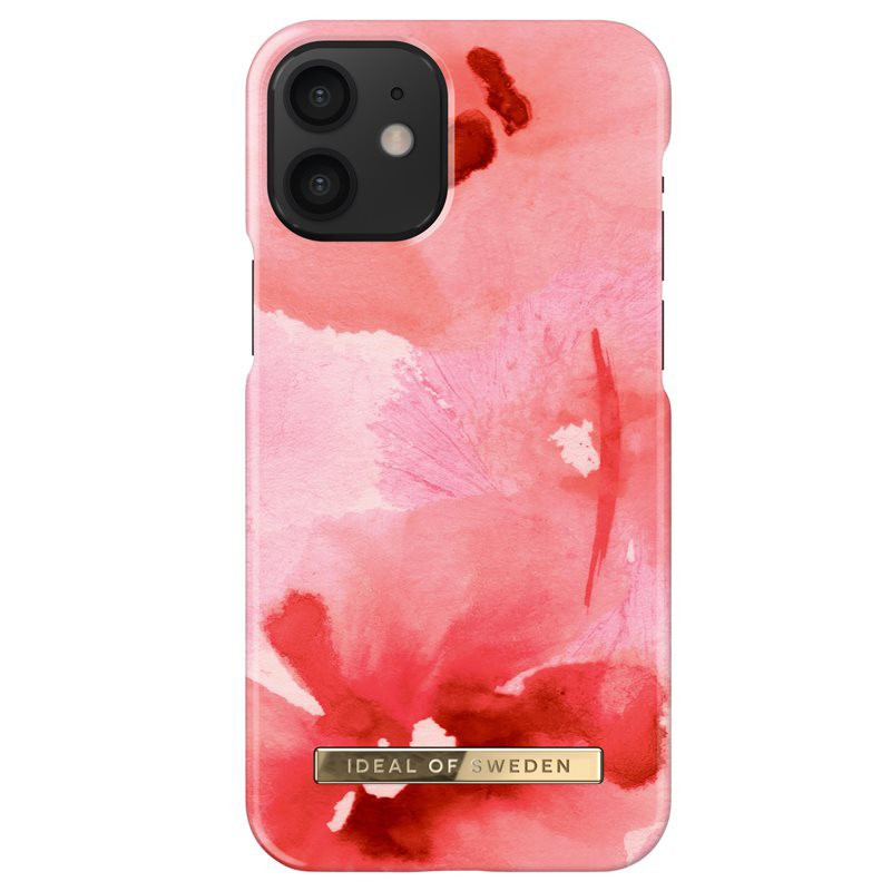 Coque rigide iDeal of Sweden Coral Blush Floral Apple iPhone 12 MINI