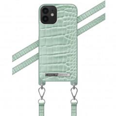Coque bandoulière iDeal of Sweden Mint Croco Apple iPhone 12 MINI