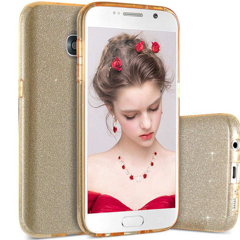 Coque PAILLETEE ETINCELANTE Samsung Galaxy S7 Or