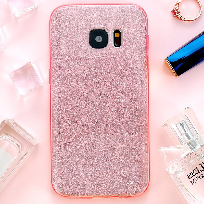 Coque PAILLETEE ETINCELANTE Samsung Galaxy S7 Edge Rose