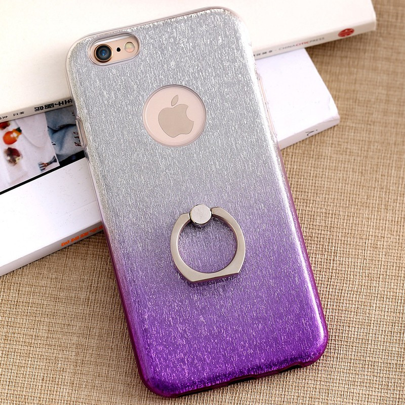 Coque ultra pailletée support bague Apple iPhone 6/6S Plus Violet