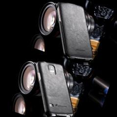 Etui flip Vintage Samsung Galaxy S5