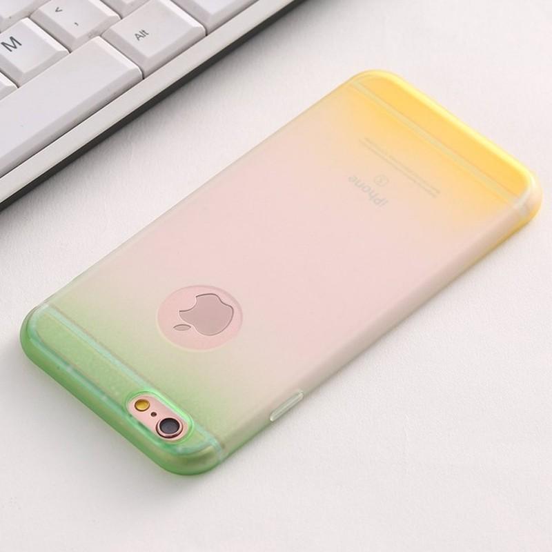 Coque Silicone Gel Gradient Apple Iphone 6 6s Plus