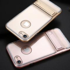 Coque bimatière transparente avec béquille Apple iPhone 7/8