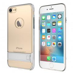 Coque bimatière transparente avec béquille Apple iPhone 7 Argent