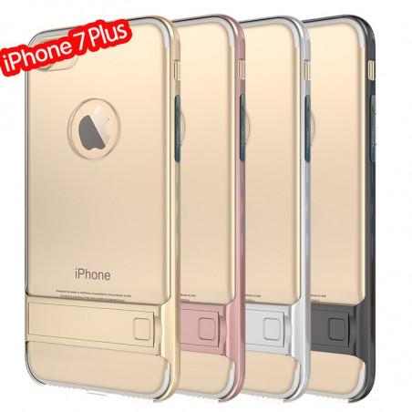 Coque bimatière transparente avec béquille Apple iPhone 7/8 Plus