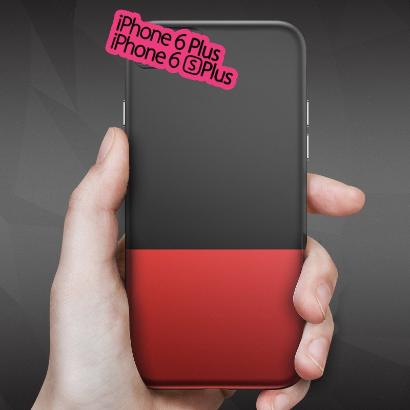 Coque rigide Floveme Contrast Color Apple iPhone 6/6S Plus Noir-Rouge