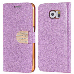 Etui folio Strass Diamant Samsung Galaxy S6 Rose