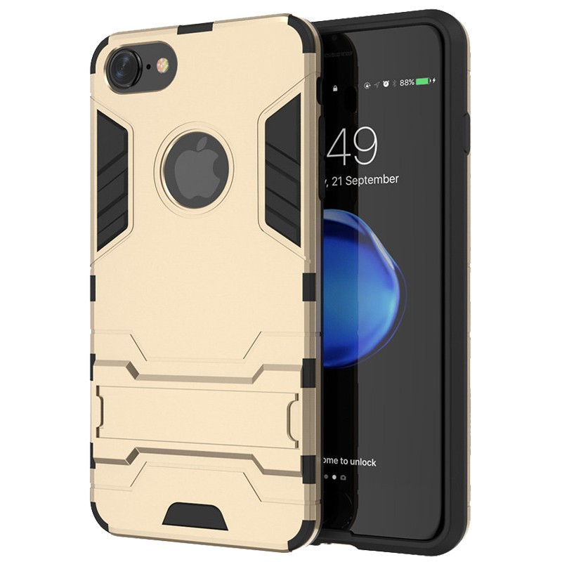 Coque Dual Layer Hybrid avec béquille Apple iPhone 7 Or