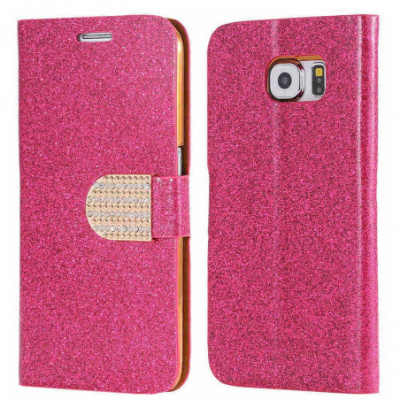 Etui folio Strass Diamant Samsung Galaxy S6