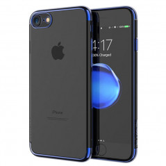 Coque silicone gel contour métallisé Apple iPhone 7
