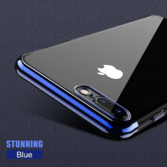 Coque silicone gel contour métallisé Apple iPhone 7 Plus
