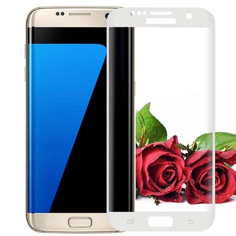 Protection écran verre trempé intégrale avec contour Samsung Galaxy S7 Edge Blanc