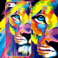 Coque silicone gel LION POP ART Apple iPhone 5/5S/SE