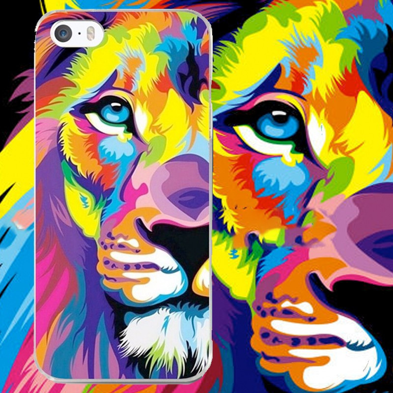 Coque silicone gel LION POP ART Apple iPhone 5/5S/SE