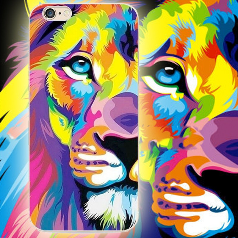 Coque silicone gel LION POP ART Apple iPhone 6/6S