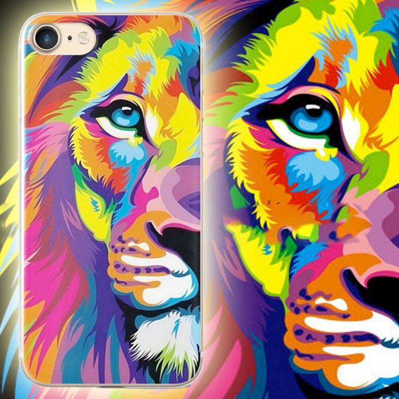Coque silicone gel LION POP ART Apple iPhone 7