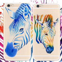 Coque silicone gel ZEBRA PAINTING Apple iPhone 6/6S