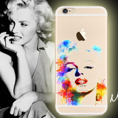 Coque silicone gel MARILYN MONROE Apple iPhone 6/6S