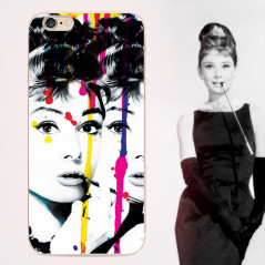 Coque silicone gel AUDREY HEPBURN Apple iPhone 6/6S