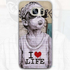 Coque rigide I LOVE LIFE Samsung Galaxy S7 Edge