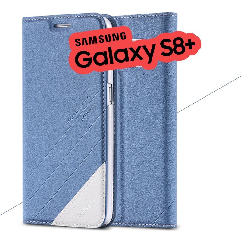 Etui folio Floveme Geometric Series Samsung Galaxy S8 Plus Bleu