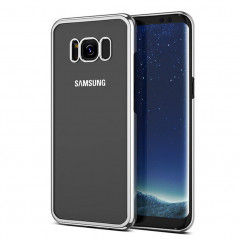 Coque rigide transparente contours metallisés Samsung Galaxy S8 Plus
