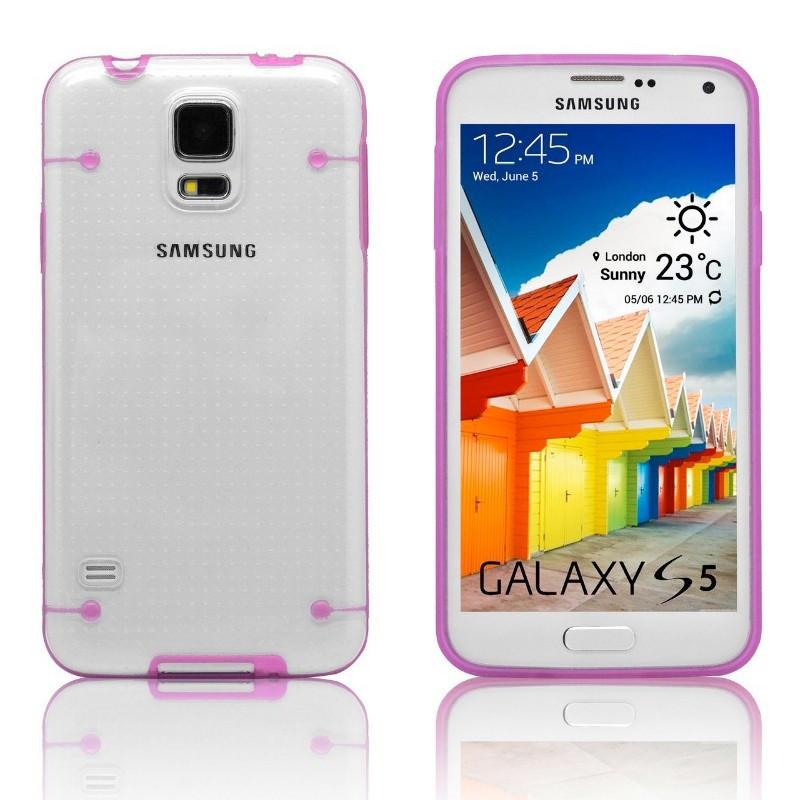 Coque transparente Luminious Samsung Galaxy S5 Rose