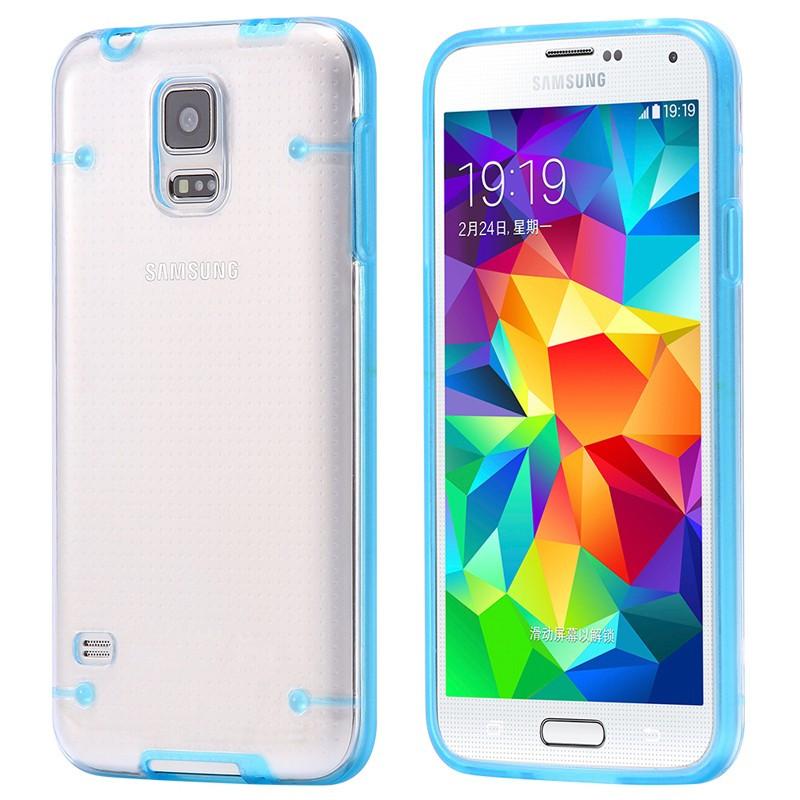 Coque transparente Luminious Samsung Galaxy S5 Bleu