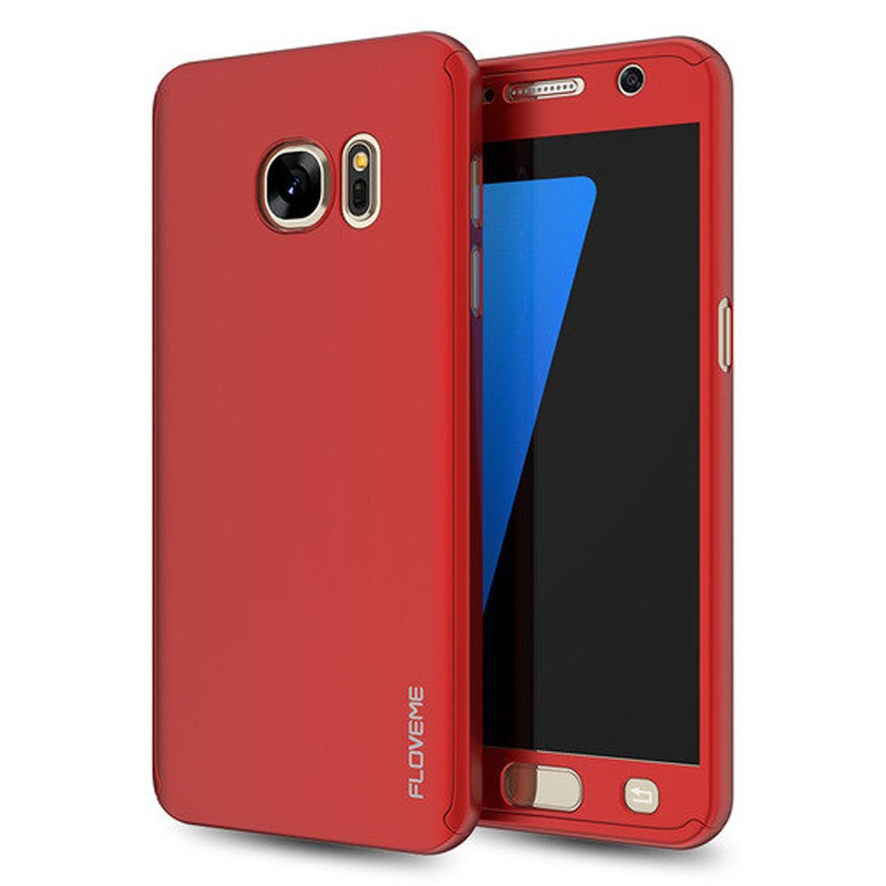 Coque FLOVEME 360° Protection Samsung Galaxy S7 Rouge