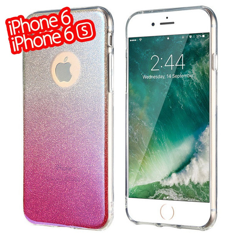 Coque silicone gel ultra pailletée Apple iPhone 6/6S Rose