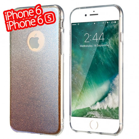 Coque silicone gel ultra pailletée Apple iPhone 6/6S