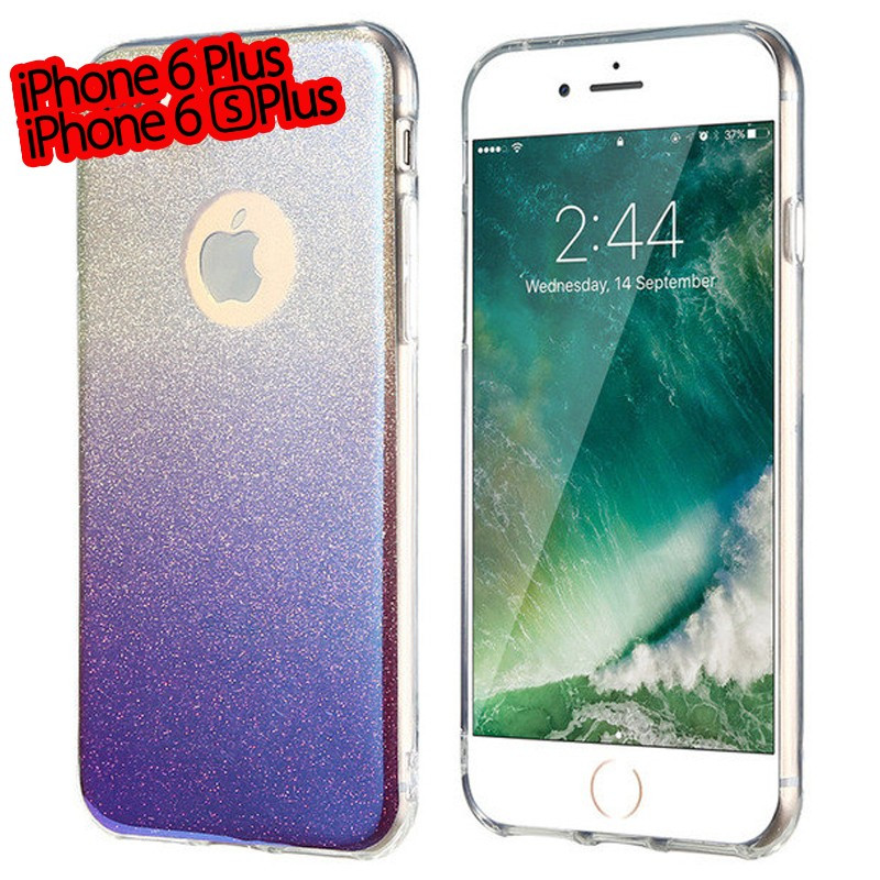 Coque silicone gel ultra pailletée Apple iPhone 6/6S Plus Violet