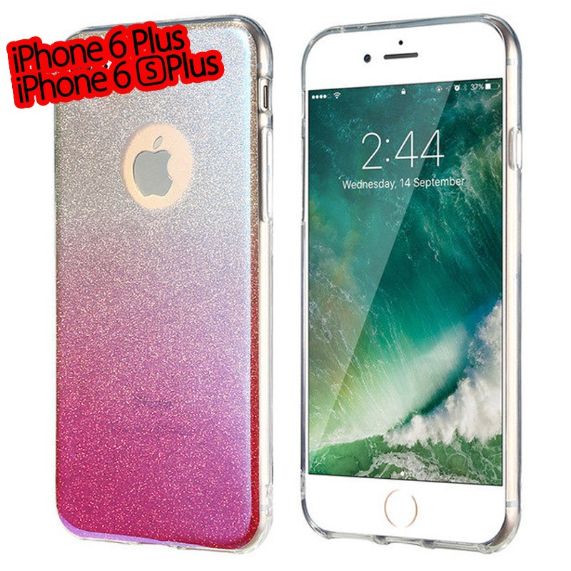 Coque silicone gel ultra pailletée Apple iPhone 6/6S Plus Rose