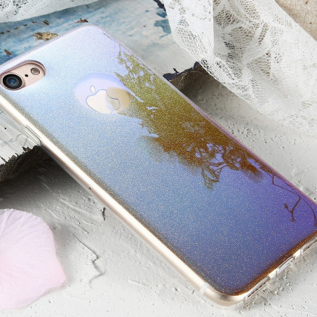 Coque silicone gel ultra pailletée Apple iPhone 7/8