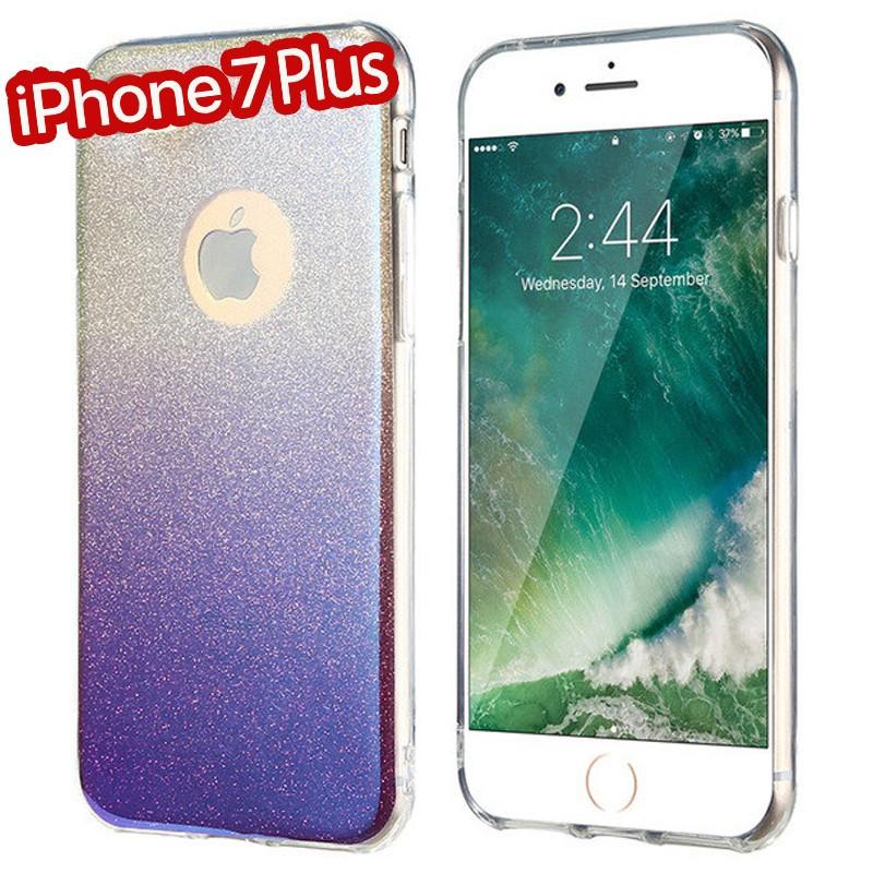 Coque silicone gel ultra pailletée Apple iPhone 7 Plus Violet