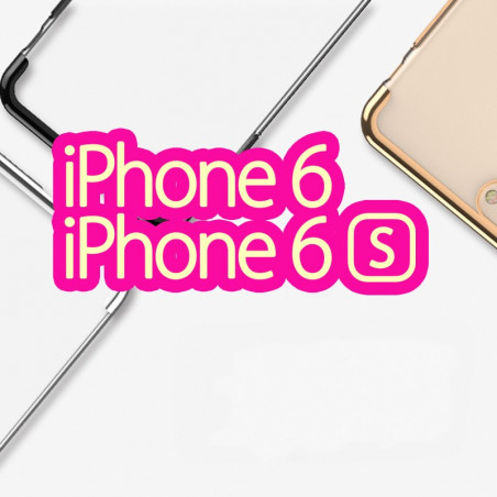 Coque rigide transparente contours métallisés Apple iPhone 6/6S