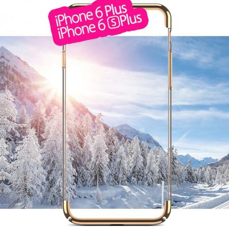 Coque rigide transparente contours métallisés Apple iPhone 6/6S Plus