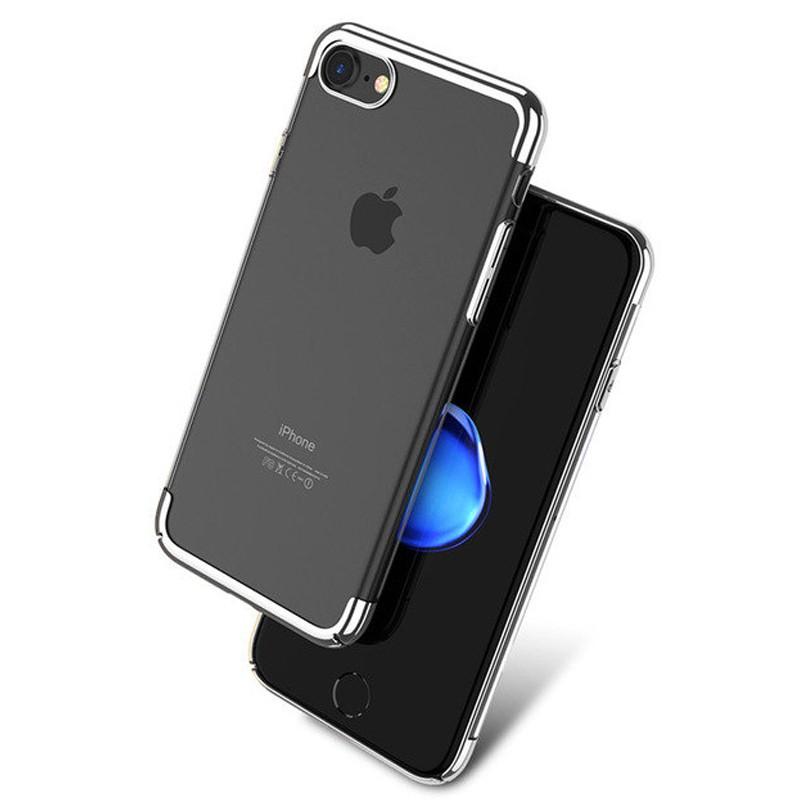 coque rigide transparente contours metallises apple iphone 78