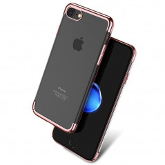 Coque rigide transparente contours métallisés Apple iPhone 7