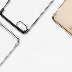 Coque rigide transparente contours métallisés Apple iPhone 7/8