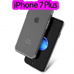 Coque rigide transparente contours métallisés Apple iPhone 7 Plus