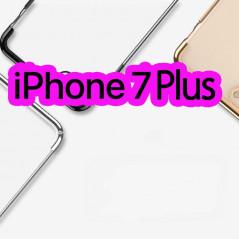 Coque rigide transparente contours métallisés Apple iPhone 7/8 Plus
