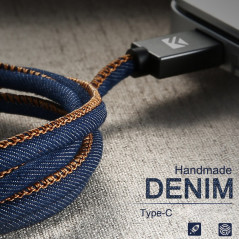 Câble USB Type-C 1mt Floveme Denim Texture