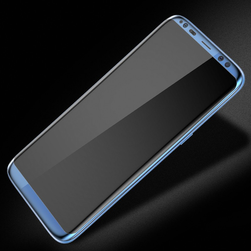 Protection écran verre trempé intégrale avec contour Samsung Galaxy S8 Bleu