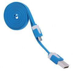 Câble plat 1mt USB-microUSB