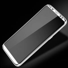 Protection écran verre trempé intégrale avec contour Samsung Galaxy S8 Plus Blanc