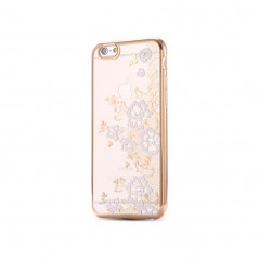 Coque silicone gel FLOWERS Apple iPhone 6/6S Rose
