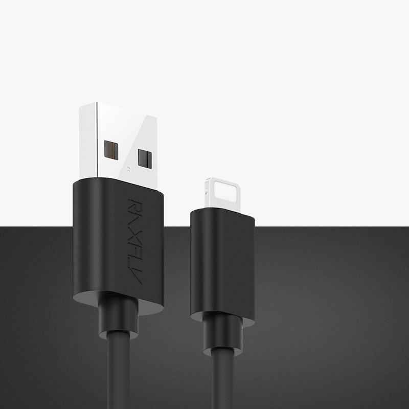 Câble Lightning 2mt RAXFLY W-2M-IP Noir